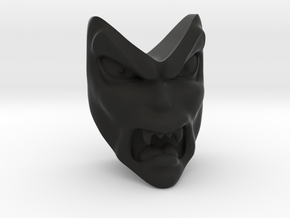 D&D Venger Angry Face in Black Natural Versatile Plastic
