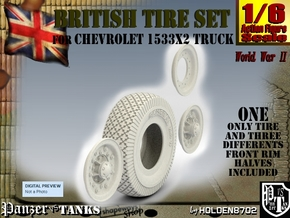 1-6 Chevy LRDG Tire And Rims in White Natural Versatile Plastic