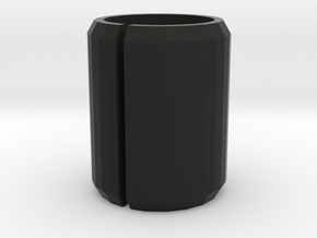 Port Cover 19mm in Black Natural Versatile Plastic