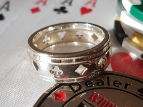 Bague-Ring Poker Deluxe in Polished Silver: 10.5 / 62.75