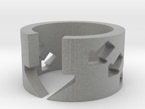 Arrowed - Ring Size 12 in Metallic Plastic