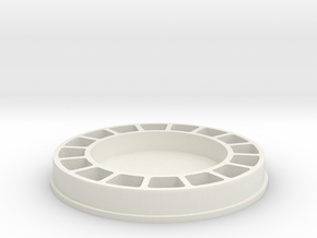 Bulkhead in White Natural Versatile Plastic