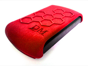 Protective Cover for OmniPod PDM - Honeycomb in Red Processed Versatile Plastic: Medium