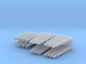 Scale 40 mm Bofors ammo set in Frosted Ultra Detail: 1:20
