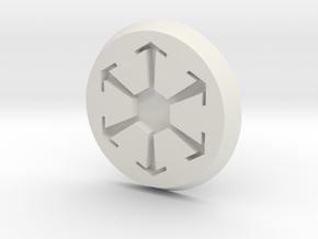 SW Button 2 in White Natural Versatile Plastic