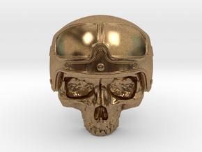 Motorbike Skull in Natural Brass