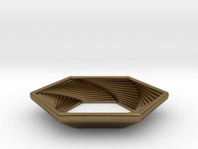 Hex Pendant in Natural Bronze