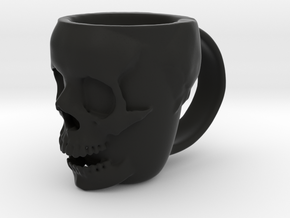 Skull Head Mug in Black Natural Versatile Plastic