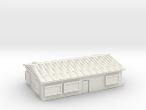 Large Bungalow in White Natural Versatile Plastic