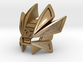 Mask Of Time Pedastal in Polished Gold Steel