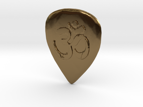 Ohm Guitar Pick in Polished Bronze