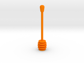 Teaspoon of honey in Orange Processed Versatile Plastic