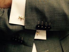 HEAD TO HEAD Union Cufflinks in 18K Gold Plated