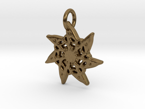 Seven-Pointed Snowflake in Natural Bronze