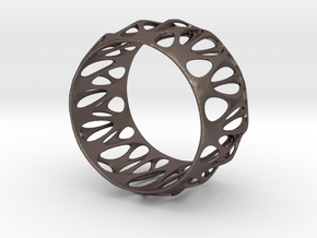 Parametric Cuff Bracelet in Polished Bronzed Silver Steel