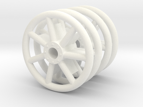 1:16 Panzer IV Idler Wheels Tubular/Welded/Early in White Processed Versatile Plastic