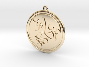 Moons and Leaves Pendant in 14k Gold Plated Brass