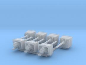 1/700 RN WW1/WW2 BL 6 Inch MKXII Guns (7) in Smoothest Fine Detail Plastic