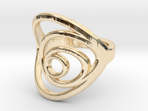 Aurea_Ring in 14k Gold Plated Brass: 11 / 64