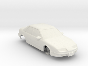 HO Slot Car 1992 Saturn SL2 - unibody chassis in White Natural Versatile Plastic
