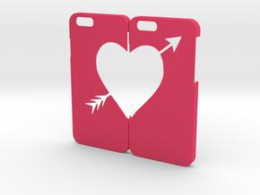 IPHONE 6 COUPLE in Pink Processed Versatile Plastic