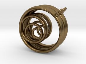 Aurea_Earrings_1 in Natural Bronze