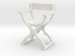 1:50 Savonarola Chair in White Natural Versatile Plastic