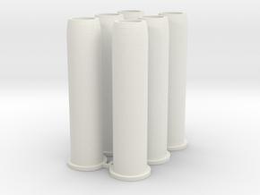 Revolver  6x Shells multi shot Economic in White Natural Versatile Plastic