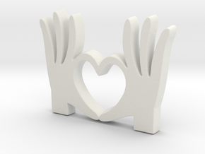 I Love You Pendant - Amour Collection in White Natural Versatile Plastic