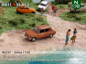 Simca 1100 (N 1:160) in Smooth Fine Detail Plastic