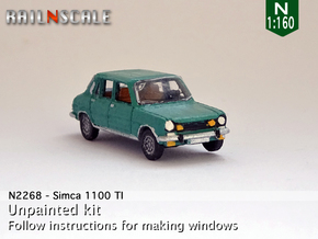 Simca 1100 TI (N 1:160) in Smooth Fine Detail Plastic
