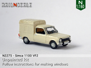 Simca 1100 VF2 (N 1:160) in Smooth Fine Detail Plastic