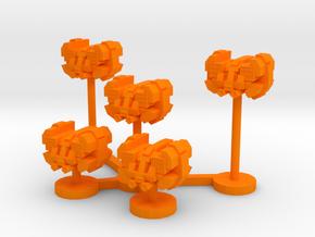 Colour Free Republic Space Superiority Wing in Orange Processed Versatile Plastic