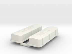 BBC Dart Valve Covers 1/12 in White Natural Versatile Plastic