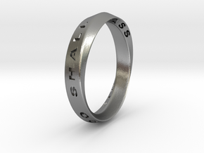 This Too Shall Pass Ring mobius ring v1 in Natural Silver