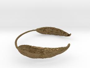 Leaf Wrist Cuff in Natural Bronze