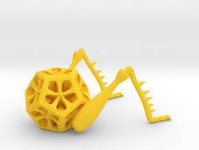 Dodeca-Hopper in Yellow Strong & Flexible Polished