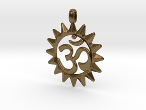 OM Symbol Jewelry Pendant in Natural Bronze
