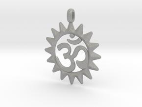 OM Symbol Jewelry Pendant in Aluminum