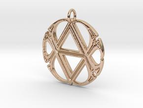 Monogram Initials AA.4 Pendant  in 14k Rose Gold