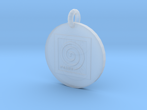 Peace Spiral B2 Pendant in Smooth Fine Detail Plastic