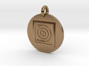 Peace Spiral B2 Pendant in Natural Brass