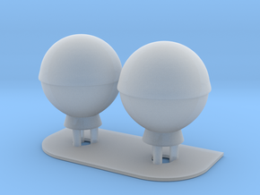 1:200 SatCom Dome Set 3 in Smooth Fine Detail Plastic