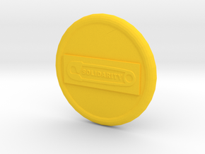 Solidarity B2 Button in Yellow Processed Versatile Plastic