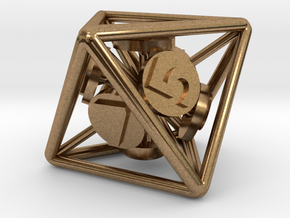 8-Sided Vector Die in Natural Brass
