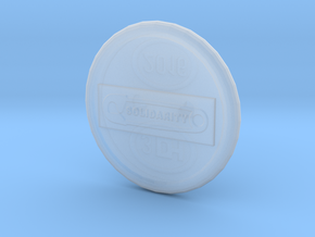Solidarity B2 Button in Smooth Fine Detail Plastic