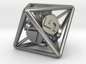 8-Sided Vector Die in Natural Silver