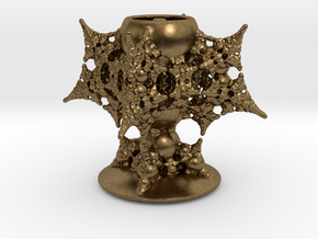 Holy Grail Fractal Miniature in Natural Bronze