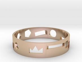 Geometric ring in 14k Rose Gold: Medium