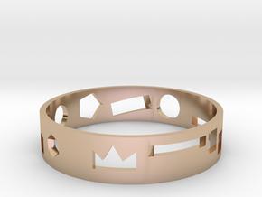 Geometric ring in 14k Rose Gold Plated: Medium
